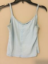 Xhilaration Women Blue Spegetti Strap Shirt Top Tank Cami Size S