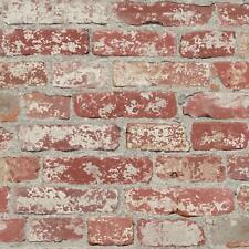 RoomMates Stuccoed Dark Red Brick Peel and Stick Wallpaper