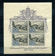 1952.VATICANO.YVERT 1**.NUEVA.HOJA BLOQUE.SIN FIJASELLOS(MNH).CAT 300 €