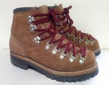 Vtg 90s DEXTER Thick Brown Roughout Leather Hiking Vibram Sole Ankle Boots 6.5 M