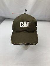 CAT Equipment Baseball Cap Hat adjustable  Army Green