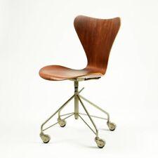 Fritz Hansen Series 7 Vtg Mid Century Modern Walnut Wood Office Task Chair DWR