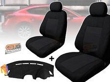 MAZDA 3 BM Neo Sedan Black SEAT COVERS F+R & DASH MAT BUNDLE 02/2014-2018 DM1341