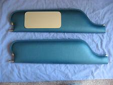 1967 69 camaro  convertible new sun visors with vanity mirror bright blue
