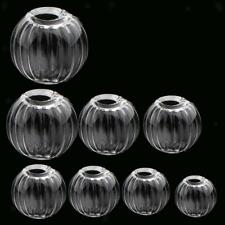 10Pcs Pumpkin Globe Ball Bottles Charm Vials Globe Pendants Miniature Ornaments
