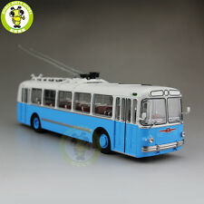 1/43 ZIU-5 ZIU 5 Russian Soviet Trolleybus Bus Classic 04006B Diecast Model Blue