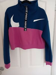 NIKE PRO GET FIT ICON CLASH FLEECE HALF ZIP JACKET LADIES SIZE S
