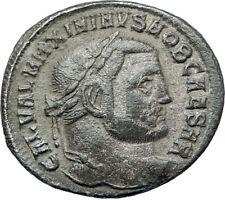 MAXIMINUS II Daia 312AD Big Silvered Ancient Roman Coin GENIUS  i73368