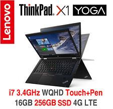 ThinkPad X1 Yoga i7 3.4GHz WQHD Touch 16GB 256GB SSD 4G LTE 3Y OS TPP Warranty