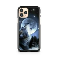 Majestic Howling Wolf Animal Full Moon Milky Way Star Cluster Phone Case Cover