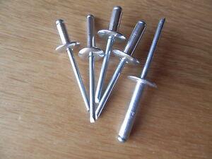 Gro/ßkopf Blindnieten K16//4,8x20 Alu-Stahl DIN 7337 mit Flachkopf und Sollbruchdorn Form AF St/ückzahl 100 Popnieten Flachrundkopf Nieten