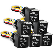 New listing Gooacc 6 Pack Automotive Relay Harness Set 5-Pin 30/40A 12V Spdt with Relay and