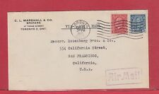 1935 scarce 8 cent airmail rate to Usa commercial Canada cover