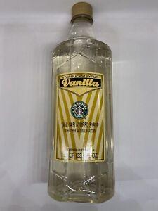 Starbucks Vanilla  Flavored Syrup 1 Liter 33.8 fl oz Bottle JAN 2022