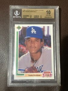 1991 Upper Deck Final Edition #2F Pedro Martinez Rookie RC BGS 10 Pristine