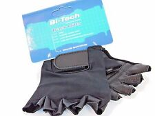 Bi-Tech Cycle Track Mitts Gloves Synthetic Leather Nylon Stretchable Back Large