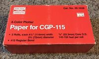 4-Color Plotter Paper for Radio Shack TRS-80 CGP-115 Printer - 3 Rolls - Tandy