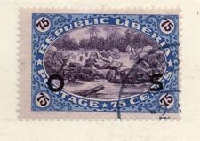 Liberia 1920s Officials Early Issue Fine Used 75c. Optd 151452