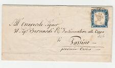 STORIA POSTALE 1857 SARDEGNA 20 C. COBALTO CHIARO 15/9/57 C/8878