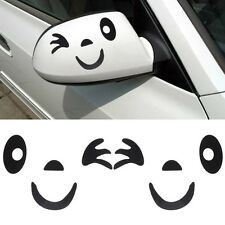Cute Smile Face Design 3D Decoration Sticker For Car Side Mirror Rearview N1