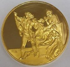 Masterpieces of Raphael Sterling Silver Medallion Judgement of Solomon