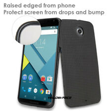 Ultra Slim Thin Black Matte Soft Rubber Case Cover For Motorola Nexus 6 Google