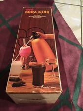 Vintage 1960's Kidde Soda King Model 100 Soda Fountain Syphon In Box