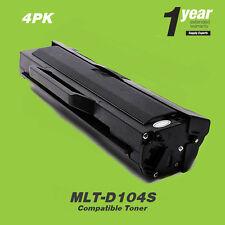 4 PACK MLT-D104S 104S TONER ML-1661 ML-1665 ML-1666 ML-1667 ML-1675 ML-1865W
