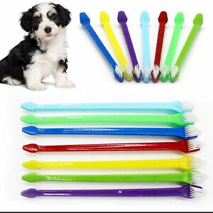 Double Ended Toothbrush Pet Dog Cat Oral Dental Teeth Cleaning Hygiene UK Seller
