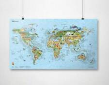 Surftrip World Map Awesome Maps Over 1000 Surf spots 38 x 22 Inches in Tube