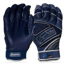 Franklin Powerstrap Chrome Batting Gloves - Navy - M