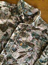Vtg Carhartt Camouflage hunting Flannel Button Down Shirt Men XL