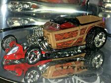 Hot Wheels Oil Can Series CUSTOM WOODY PICKUP w/RRs (Red) 1/7,000