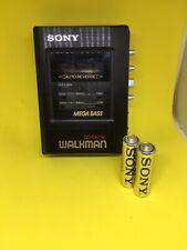 Vintage Sony Walkman WM-B47 Mega Bass Cassette Tape Player REFURBISHED NEW BELT