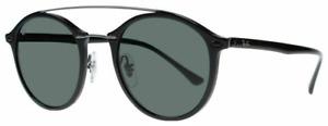 Ray-Ban Damen Herren Sonnenbrille RB4266 601/71 49mm LightRay schwarz RBH2 LN H