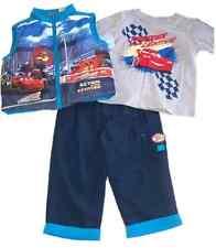 Nuevo Disney Cars Lightning McQueen 3PC Conjunto Set 12 meses shirt, Top Pantalones