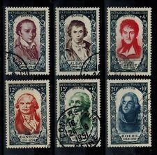 (a34) timbres France n° 867/872 oblitérés année 1950