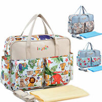 Baby Nappy Bag Mummy Changing Bag  Baby Diaper Bag Multifunction Waterproof Cute