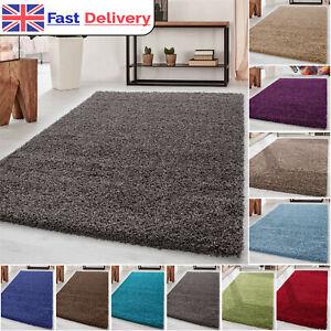 Modern High Pile Shaggy Rug Shag Area Soft Thick Carpet Living Room Fluffy Rugs