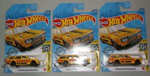 2020 Hot Wheels Kroger Exclusive Lot of 3 Datsun Bluebird Wagon (510) - Yellow