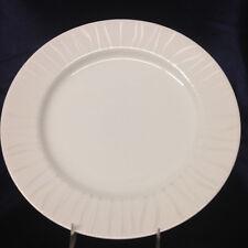 "ROYAL WORCESTER MIRAGE DINNER PLATE 10 1/2"" WHITE LINE DESIGN ON WHITE"