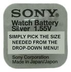 Genuine SONY / MURATA Silver Oxide Watch Battery Japan 1.55v- ALL SIZE SHOWCASE!