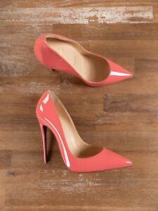 $725 CHRISTIAN LOUBOUTIN So Kate Charlotte pink patent pumps stilettos 7 US / 37