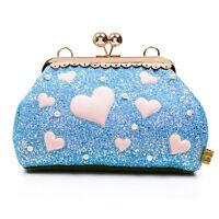 Irregular Choice Candy Cupcake Forbury Gardens Blue Glitter Heart Bag Handbag