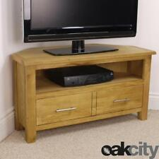 Nebraska Modern Oak Corner TV Unit / Solid Wood TV Stand / Oiled Cabinet / New