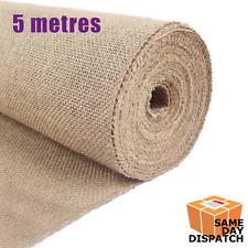 "5m Hessian Fabric ~ 54"" 1.37m 10oz ~ Upholstery Crafts Cloth Metre Jute Garden"