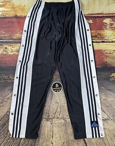 Mens Vtg Adidas Dazzle Tear Away Track Snap Pants Sz M Black/White Ricky TPB