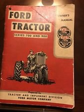 Ford 700 740 760 900 960 Row Crop Tractor Owner Operator's Manual Se6172-A 1957