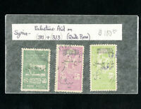 Syria Stamps # 311 & 313 + Extra VF Used Rare Lot of 3 Palestine Aid Overprints