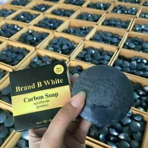 3X Carbon Soap Detox Acne with charcoal natural Reduce excess oil Deep cleaning